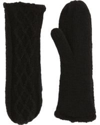 Hat Attack - Diamond Cableknit Mittens - Lyst
