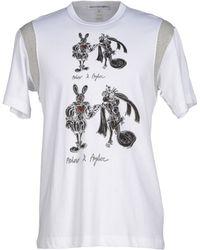 Comme des Garçons T-Shirt white - Lyst
