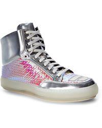 Alejandro Ingelmo Silver Jeddi High-Top Sneakers - Lyst