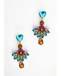 Missguided Rania Gem Drop Earrings Multi - Lyst