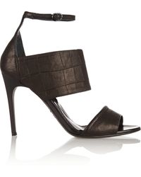 McQ by Alexander McQueen Croc-Effect Leather Sandals - Lyst