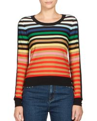 Sonia Rykiel   Silk & Cotton Multicolor-striped Sweater   Lyst