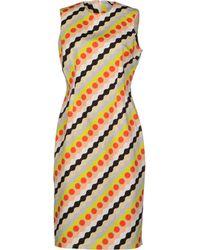 Jonathan Saunders Knee Length Dress - Lyst