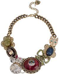 Betsey Johnson Mixed Critter Frontal Necklace - Lyst