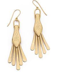 Aurelie Bidermann Tribal Fringe Earrings - Gold - Lyst