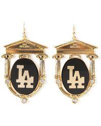 Malibu 1992 - 'La' Print Earrings - Lyst