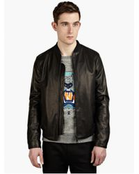Kenzo Men'S Statue Of Liberty Leather Bomber Jacket - Lyst