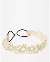 Asos Limited Edition Metallic Vine Headband - Lyst