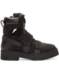 Hood By Air - Black Suede And Rubber Avalanche Boots - Lyst