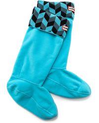 Hunter Geometric Dazzle Boot Socks  - Lyst