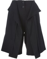 Lost & Found - Draped Shorts - Lyst