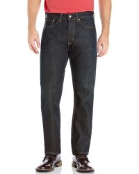 Levi's Dark Wash 505 Fume Regular Fit Jeans - Lyst