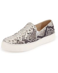 Stuart Weitzman - Nuggets Snake-Print Slip-on Trainer - Lyst