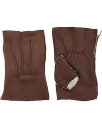 Barneys New York Handwarmer Gloves brown - Lyst