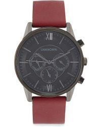 Unknown - The Engineered Gunmetal Chronograph Watch - Lyst