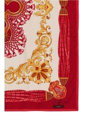 Ibrigu - One Of A Kind Patchwork Tile Silk Foulard Scarf - Lyst