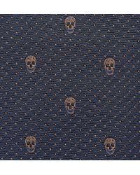 Alexander McQueen Skull Silk-jacquard Tie - Lyst