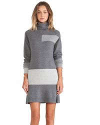 McQ by Alexander McQueen Gray Flirty Dress - Lyst