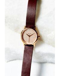 Nixon Kenzi Leather Watch - Lyst