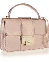 Jimmy Choo Rebel Metallic Elaphe Shoulder Bag - Lyst