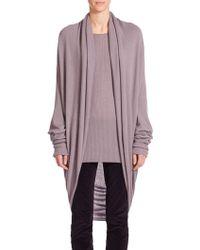 The Row Caro Open-Front Cashmere & Silk Cardigan purple - Lyst