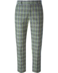 Paul by Paul Smith - Checked Cotton and Linen-Blend Trousers - Lyst