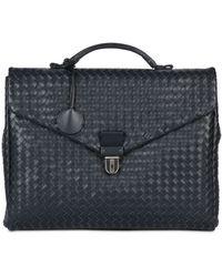 Bottega Veneta Hand Woven Leather Briefcase - Lyst