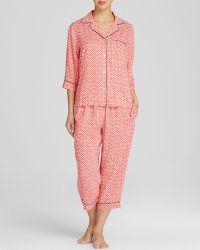 DKNY Geo Print Capri Pajama Set - Lyst