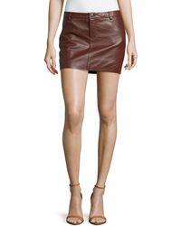 Haute Hippie Leather Mini Skirt - Lyst