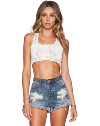 Lisa Maree - I Am What I Am Crop Top - Lyst