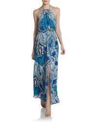 Madison Marcus - Paisley Halter Maxi Dress - Lyst