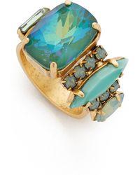 Elizabeth Cole - Seafoam Stone Ring - Lyst