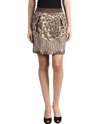 Philosophy di Alberta Ferretti Mini Skirt brown - Lyst