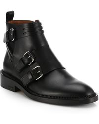 Givenchy Bandage Leather Biker Boots - Lyst