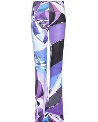 Emilio Pucci Printed Wide-Leg Trousers - Lyst