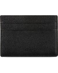 Bally Black Credit Card Clip Holder Black Red - Lyst
