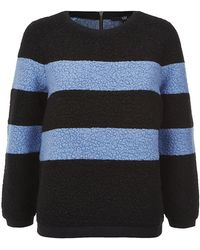 Tibi Panda Striped Sweatshirt - Lyst