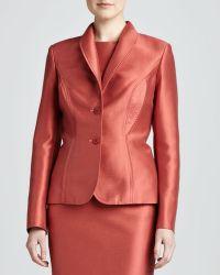 Carolina Herrera Red Mikado Jacket - Lyst
