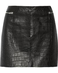 Alexander Wang Croc-effect Leather Mini Skirt - Lyst