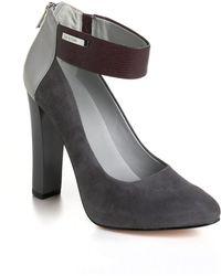 Calvin Klein - Ariel Suede Ankle Strap Pumps - Lyst