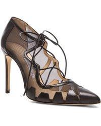 Bionda Castana Dekota Mesh & Leather Heels - Lyst