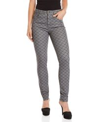 Sonia by Sonia Rykiel - Fishnet Print High-waisted Jeans - Lyst