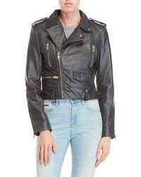 Walter Baker - Hanna Leather Moto Jacket - Lyst