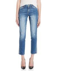 Flying Monkey - Tuxedo Stripe Skinny Jeans - Lyst