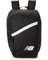 New Balance - Black & White Team Ball Backpack - Lyst