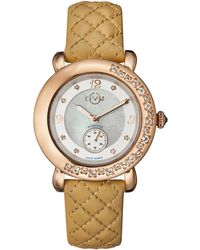 Gv2 - 9893l Marsala Rose Gold-tone & Beige Diamond Watch - Lyst