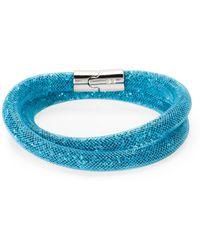 Swarovski - Palladium-plated Double Wrap Bracelet - Lyst
