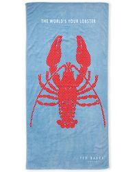 Ted Baker - Blue Lobster Beach Towel - Lyst