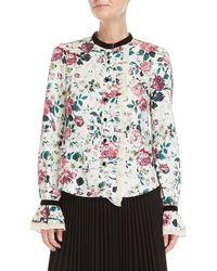 Manoush - Floral Ruffled Linen Shirt - Lyst