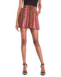 Scotch & Soda - Printed Drawstring Skirt - Lyst